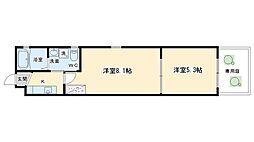 ドーリアNIJO駅東[1A号室号室]の間取り