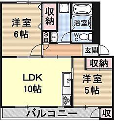 緑山荘A棟[107号室号室]の間取り