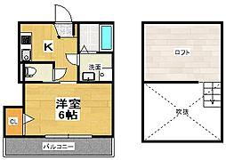 Park Terrace Koshigaya[202号室]の間取り