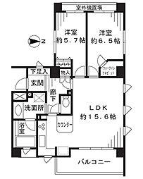 ライオンズステージ武蔵新城[321号室]の間取り