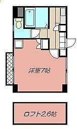 クレスト黒崎[208号室]の間取り
