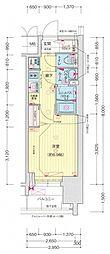 名古屋市営名城線 東別院駅 徒歩3分の賃貸マンション 4階1Kの間取り