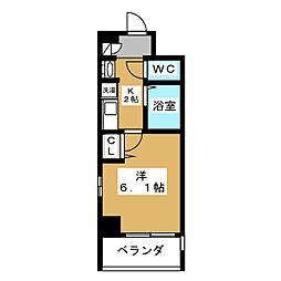 エステムプラザ京都五条大橋[6階]の間取り