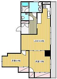 茅ヶ崎共生ビル[4階]の間取り