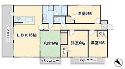 ルフラン東新町[701号室]の間取り