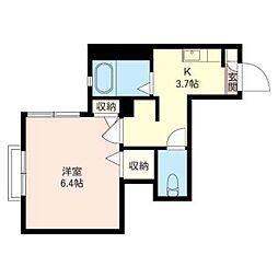 アルファンスコート[2階]の間取り