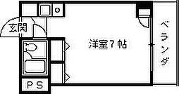 サンロイヤル西宮[302号室]の間取り