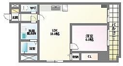 スカイハイツモリカワ[5階]の間取り