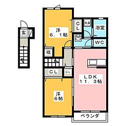 スターダスト[2階]の間取り
