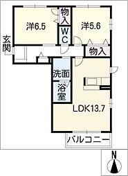 コージーフラッツ[1階]の間取り