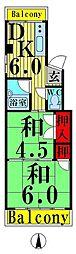 東京都足立区伊興1丁目の賃貸マンションの間取り