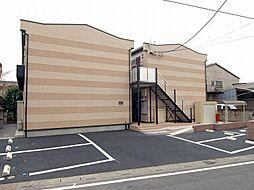 埼玉県草加市新里町の賃貸アパートの外観