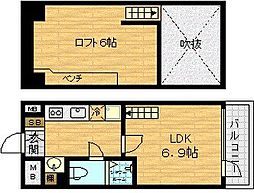 リセス大阪イースト[6階]の間取り