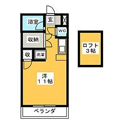 ビレッジKR−5[3階]の間取り