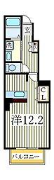 ベルクラールII[1階]の間取り