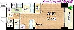 アスヴェル大阪城WESTII[3階]の間取り