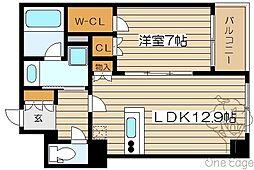 大阪府大阪市北区中崎3丁目の賃貸マンションの間取り