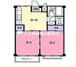 エルディム斉藤[2階]の間取り