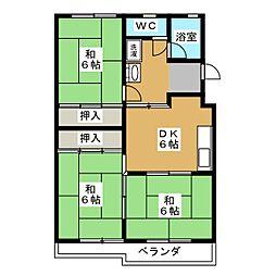 恵比寿コーポ[2階]の間取り