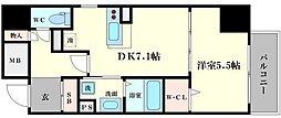 大阪府大阪市中央区備後町3丁目の賃貸マンションの間取り
