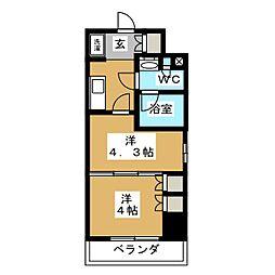 パークアクシス横濱大通り公園 4階1DKの間取り