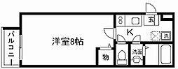 フラッティ西本願寺[202号室]の間取り