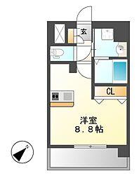 プレサンス名古屋STATIONビジュ[15階]の間取り