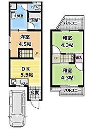 [テラスハウス] 大阪府門真市島頭1丁目 の賃貸【/】の間取り