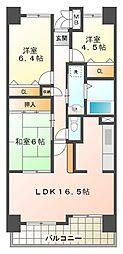 井吹西シティコート[2階]の間取り