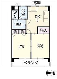 大村宮東マンション[2階]の間取り