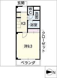 サンシャインアベニュー[2階]の間取り