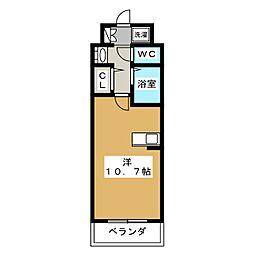 エステムプラザ京都烏丸五条[4階]の間取り