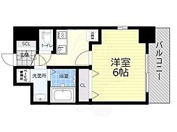JR関西本線 JR難波駅 徒歩10分の賃貸マンション 5階1Kの間取り