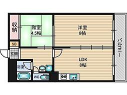 アーバンス新大阪[3階]の間取り