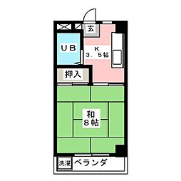メゾンミフク[3階]の間取り