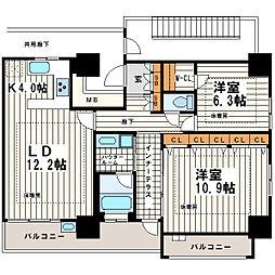 松屋タワー[25階]の間取り