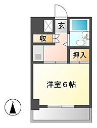 明治第9ビル[5階]の間取り