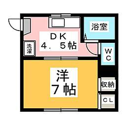 リバーハウス  A棟[2階]の間取り