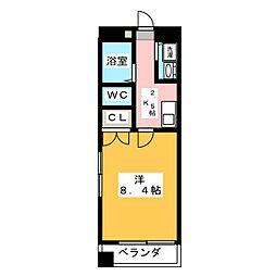 グラン・ドミール新寺[8階]の間取り