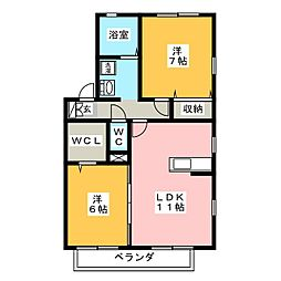 ロイヤルガーデン C[1階]の間取り