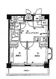 ライオンズマンション吉野町第12[8階]の間取り
