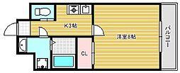 大阪府吹田市山手町3丁目の賃貸マンションの間取り
