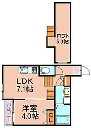 ブルーリーフ1号館[1階]の間取り