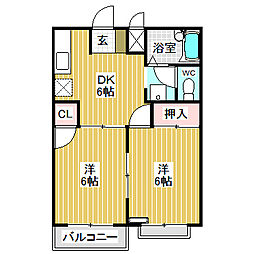 愛知県名古屋市中川区大当郎3丁目の賃貸マンションの間取り