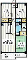 東京都西東京市田無町4丁目の賃貸マンションの間取り