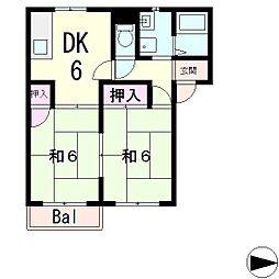 フレグランスオオトモ[2階]の間取り