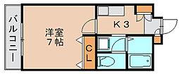 エスポワール筥松[2階]の間取り