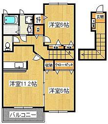 サニーブライトI・II[2-202号室]の間取り