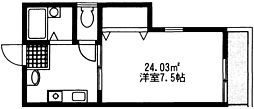 ハイツソレイユ[1階]の間取り