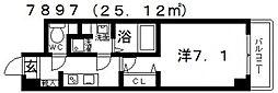 シェモア藤井寺[701号室号室]の間取り